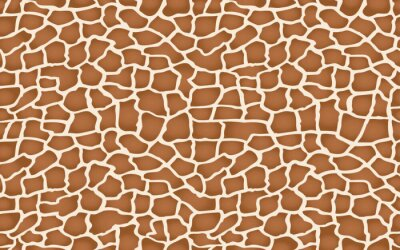 Nálepka giraffe texture pattern seamless repeating brown beige white safari zoo jungle print