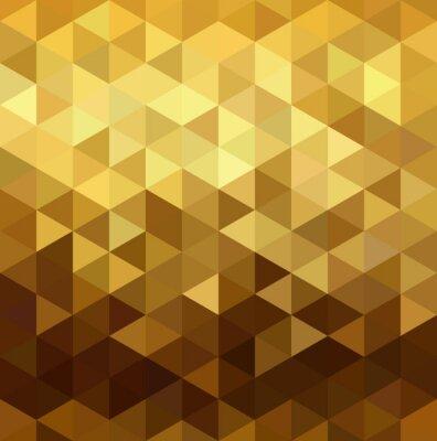 Nálepka Gold vzor low poly geometrie trojúhelník fantazie