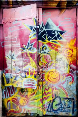 Nálepka Graffiti coloré sur une porte