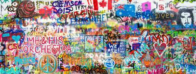 Nálepka Graffiti Panorama