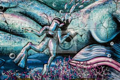 Nálepka Graffiti plongeur