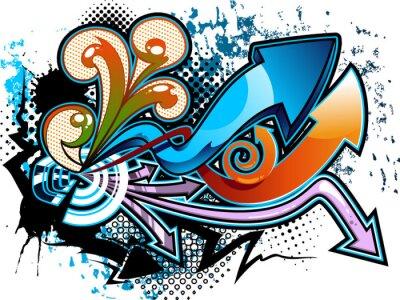 Nálepka Graffiti pozadí