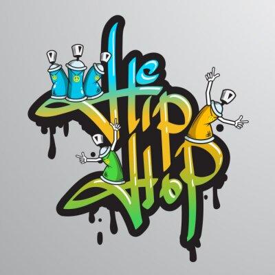 Nálepka Graffiti slovní znaky pro tisk