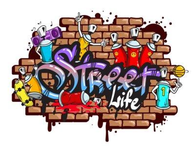 Nálepka Graffiti slovní znaky složení