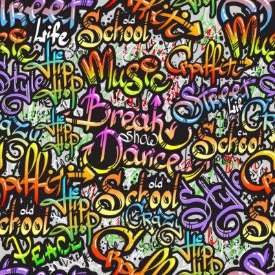 Nálepka Graffiti slovo bezešvé vzor