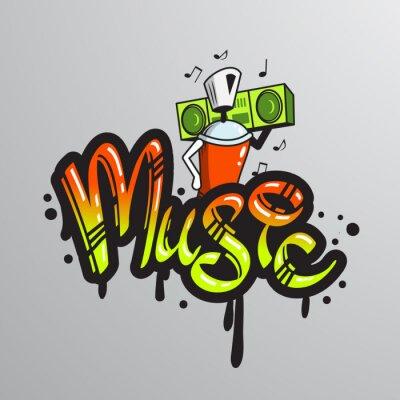 Nálepka Graffiti slovo znak tisk