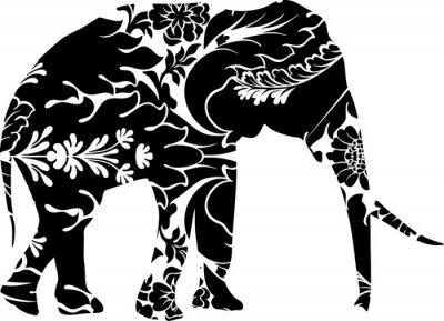 Nálepka Grafické slon