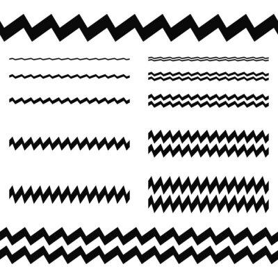 Nálepka Grafický design prvky - asymetrická linka set