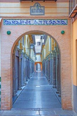 Nálepka Granada - K Alcaiceria trhu v ranních hodinách