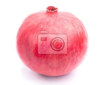 Nálepka Granátové jablko na bílém pozadí s ořezové cesty