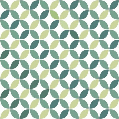 Nálepka Green Geometric Retro Seamless Pattern