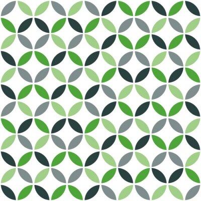 Nálepka Green Geometrická Retro bezešvé vzor