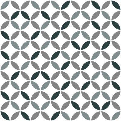 Nálepka Grey Geometrická Retro bezešvé vzor