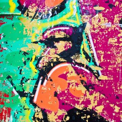 Nálepka Grunge barevné pozadí kovů