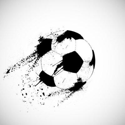 Nálepka Grunge fotbalový míč