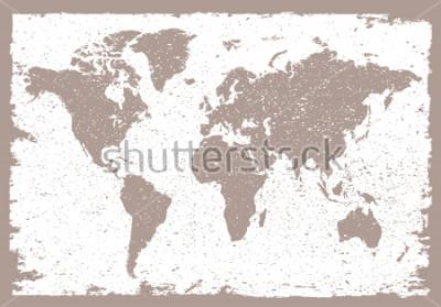 Nálepka Grunge world map.Vintage map of the world.