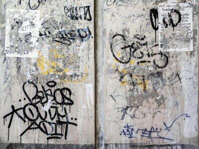 Nálepka Grunge zdi textury pozadí v Bangkoku