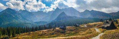 Nálepka Hala Gasienicowa v Tatrách - panorama