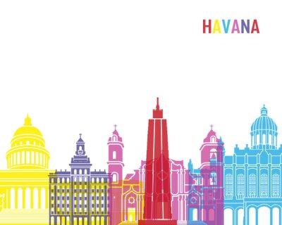 Nálepka Havana panorama pop