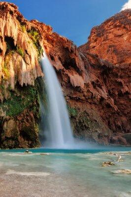 Nálepka Havasu Falls při západu slunce, vodopády v Grand Canyon, Arizona