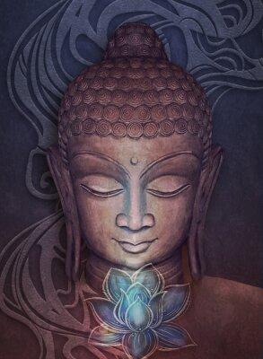 Nálepka Head Smiling Buddha