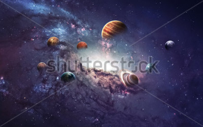 Nálepka High resolution images presents creating planets of the solar system. This image elements furnished by NASA.