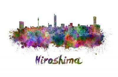 Nálepka Hiroshima panorama v akvarel