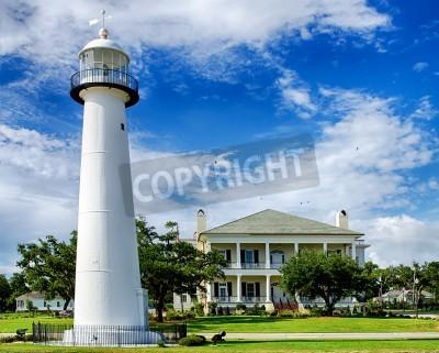 Nálepka Historic lighthouse landmark and welcome center in Biloxi, Mississippi