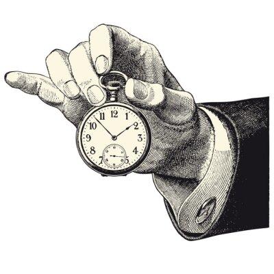 Nálepka Hlavní d'homme nájemník une montre