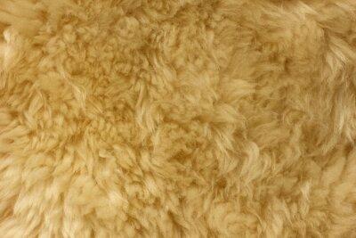 Hnědé chlupaté přírodní ovčí kožešiny textury na pozadí