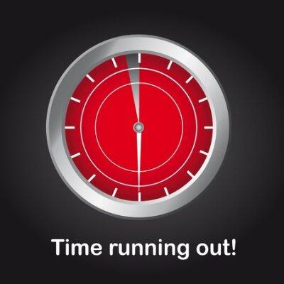 hodiny s čas vypršel textu na černém pozadí. vektor