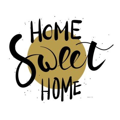Nálepka Home sweet home ruční písmo.