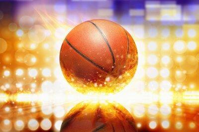 Nálepka hořící basketbal