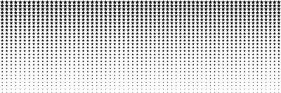 Nálepka horizontal black blended star for pattern and background