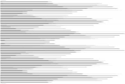 Nálepka Horizontální vzorek polotónové rychlosti s gradientem. Šablona pro pozadí a stylizované textury.