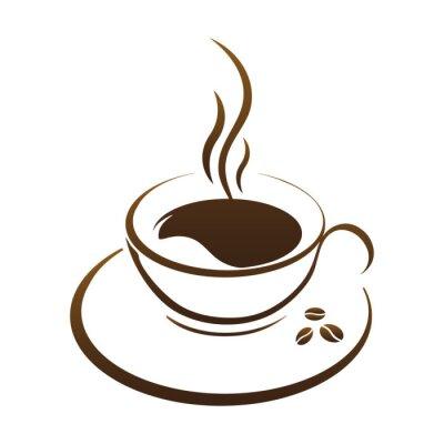 Nálepka horké kávy cup vector