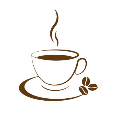 Nálepka hot coffee cup icon