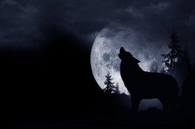 Nálepka Howlin 'Wolf pozadí