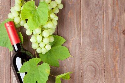 Nálepka Hrozen a láhev červeného vína
