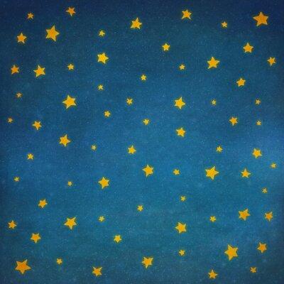 Nálepka Hvězdy na noční obloze pozadí ilustrační výtvarné