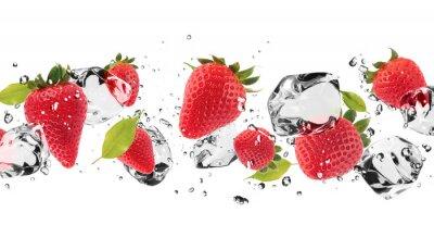 Nálepka Ice ovoce na bílém pozadí