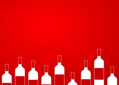 Nálepka Icono plano botellas de vino sin alinear sobre fondo degradado # 1