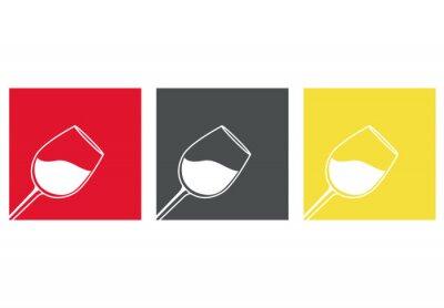 Nálepka Icono plano copa de vino # 3