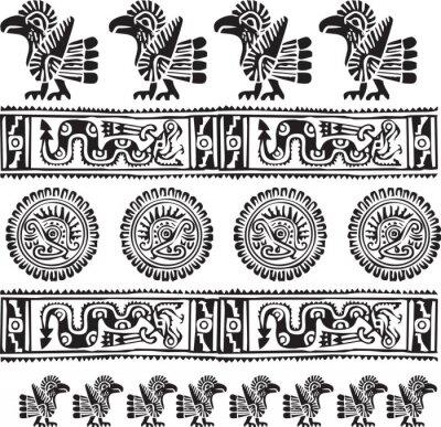 Ikona americké kultury. Editovatelné vektorové ilustrace