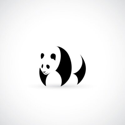 Nálepka ikona Panda
