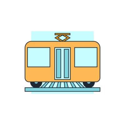 Nálepka ikona pohled tramvaj front