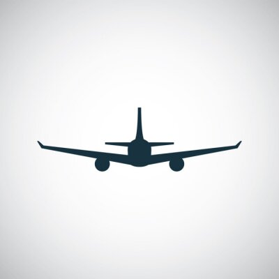 Nálepka ikonou letadla