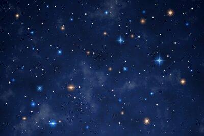 Nálepka Illustration of a beautiful night sky