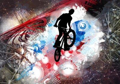 Nálepka Ilustrace jízdního kola