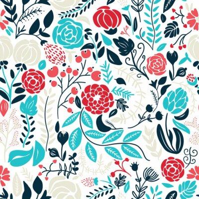 Nálepka Ilustrace krásné rukou vypracován květiny